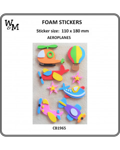 W&M Foam Stickers Aeroplanes