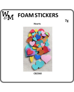 W&M Foam Stickers Hearts 7g