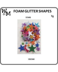 W&M Foam Glitter Stars 7g