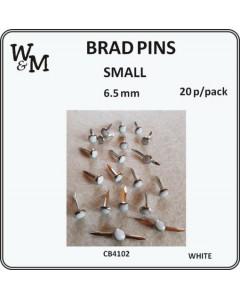 W&M Brad Pins Small White...