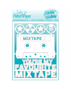 Lady Pattern Awesome Chipboard - Mixtape