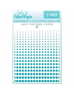 Lady Pattern Awesome Mask/Stencil - Halftone