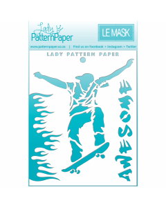 Lady Pattern Awesome Mask/Stencil - Skater