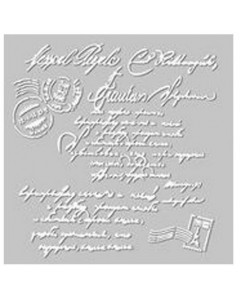 Fabscraps Stencil/Mask -Script