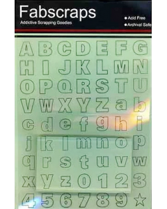 Fabscraps Alphabet Clear Stamp