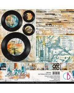 Ciao Bella 12 x 12 Paper Pad - Blue Note