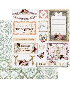 Prima Pretty Mosaic Paper - Beautiful Life