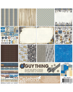 Celebr8 12 x 12 A Guy Thing Paper Pack
