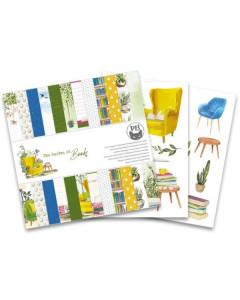 Garden of Books, 6×6″ Paper...