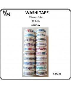 W&M Washi Tape - Holiday 20pc