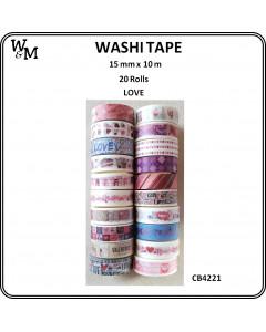 W&M Washi Tape - Love 20pc