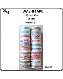 W&M Washi Tape Pattern 1  20pc