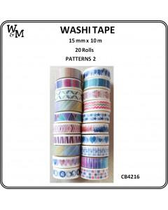 W&M Washi Tape Pattern 2 20pc