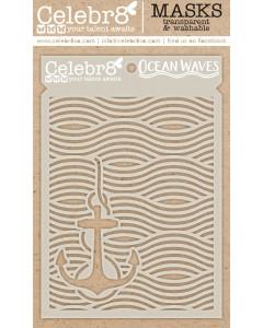 Celebr8 Stencil - Ocean Waves