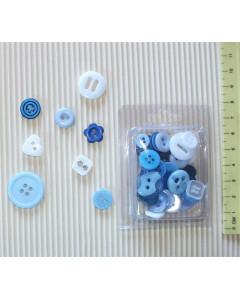 W&M Button Mix - Blue
