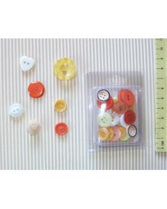 W&M Button Mix - Orange