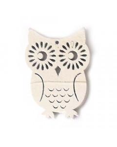 W&M Wood Embellishment Owl