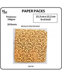 W&M 6 x 6 Paper Pack Gold...