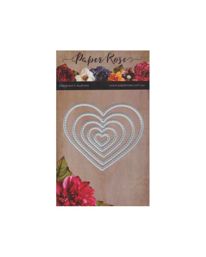 Die cut hearts card embellishments