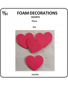 W&M Foam Hearts Red 70mm