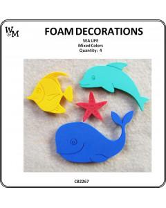 W&M Foam Sea Life Mix 4pcs