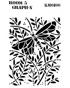 Room 5 Stencil - Dragonfly