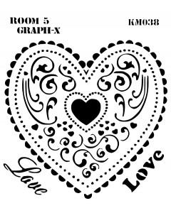 Room 5 Stencil - Lace Heart