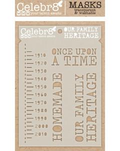 Celebr8 Our Story Stencil -...