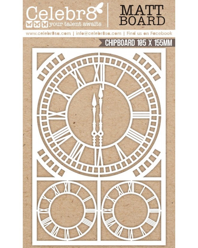 Celebr8 Our Story Chipboard - Clock Elements