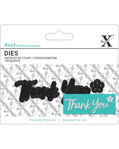 XCUT dies - Thank you 3pcs