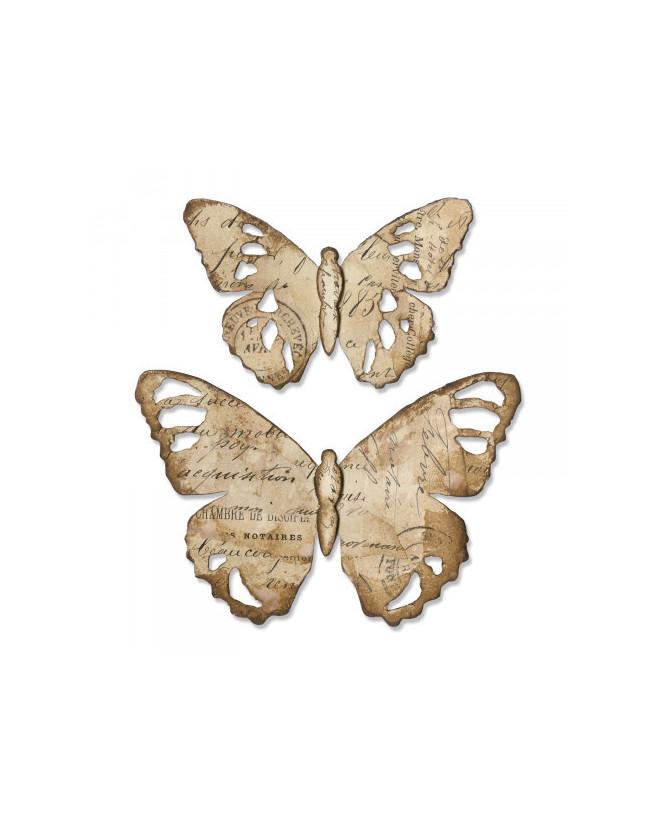 Sizzix Cutting Dies - Tattered Butterfly 2pcs