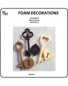 W&M Keys & Lock Foam Mix 6pcs