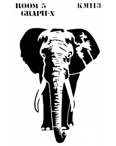 Room 5 Stencil - Elephant
