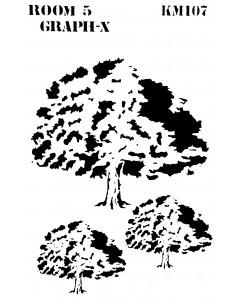 Room 5 Stencil - Savanna Trees