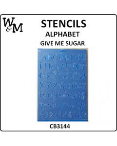 W&M Alphabet A4 Stencil -...