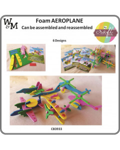 W&M Craft Kits Foam Aeroplane