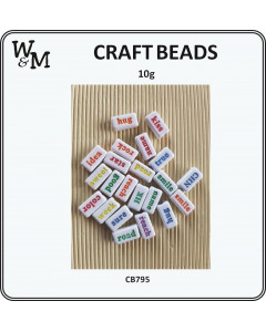 W&M Word Mix Craft Beads 10g